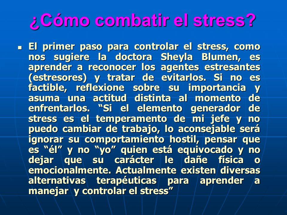 ¿Cómo combatir el stress