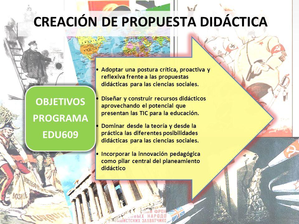 CREACIÓN DE PROPUESTA DIDÁCTICA