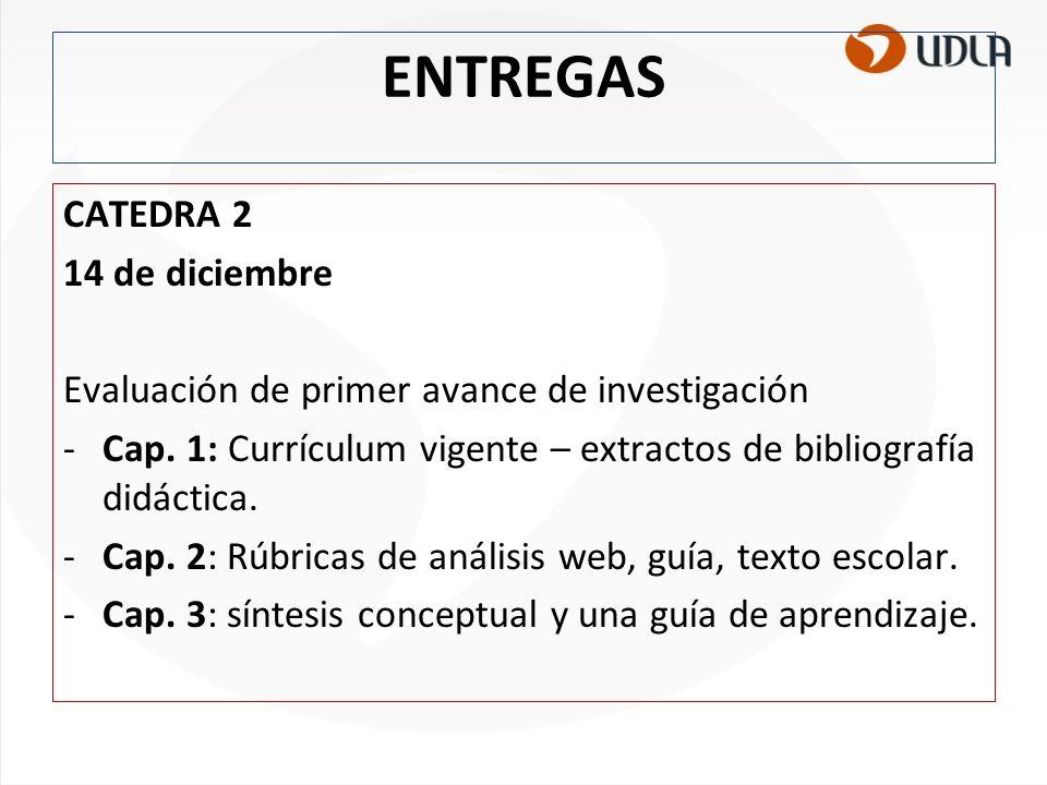 ENTREGAS CATEDRA 2 14 de diciembre