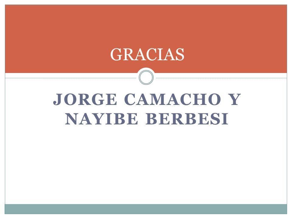 JORGE CAMACHO Y NAYIBE BERBESI