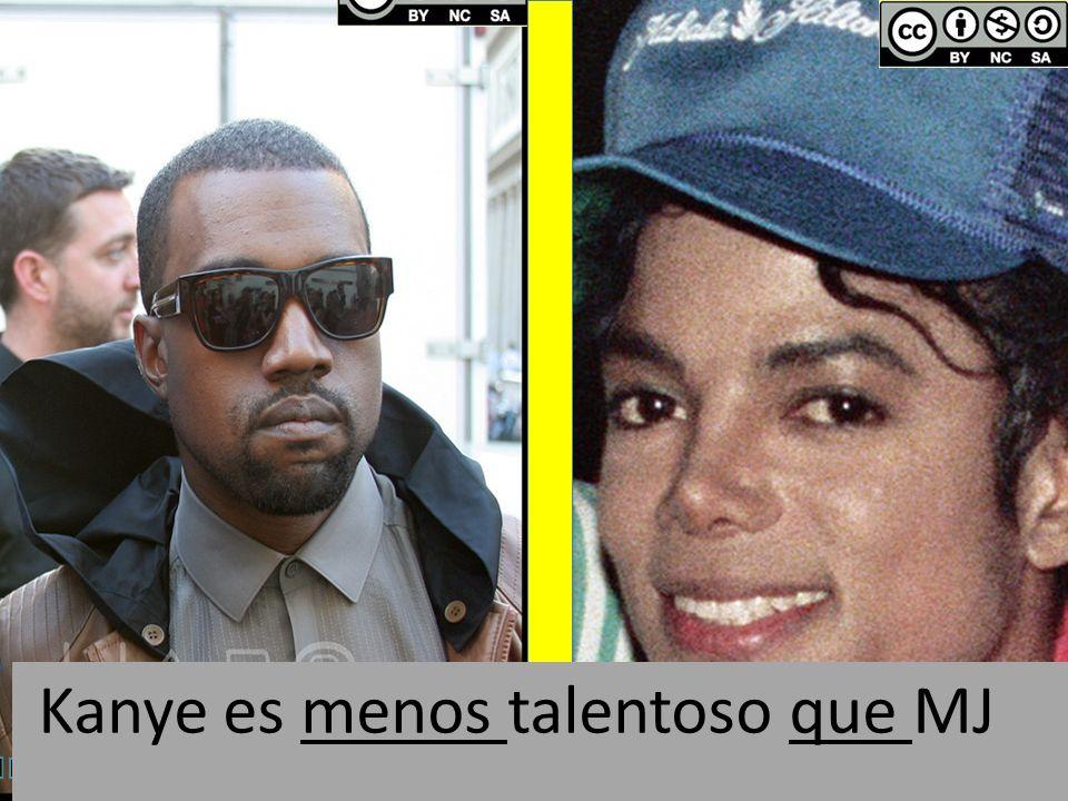 Kanye es menos talentoso que MJ