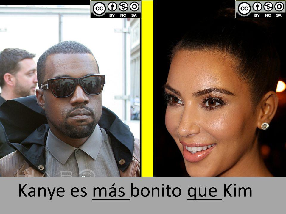 Kanye es más bonito que Kim