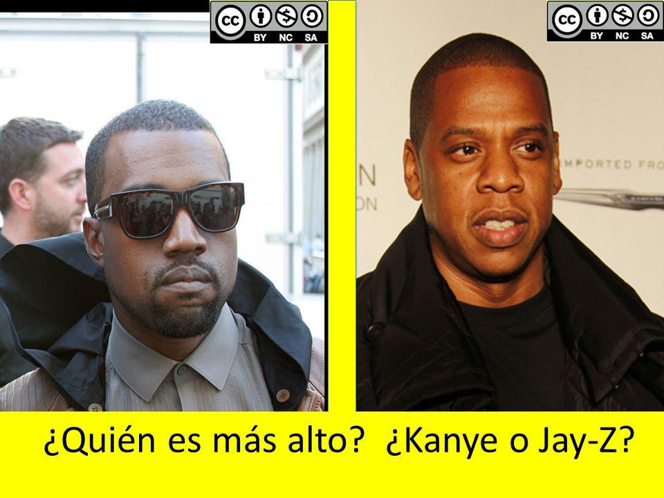 ¿Quién es más alto ¿Kanye o Jay-Z