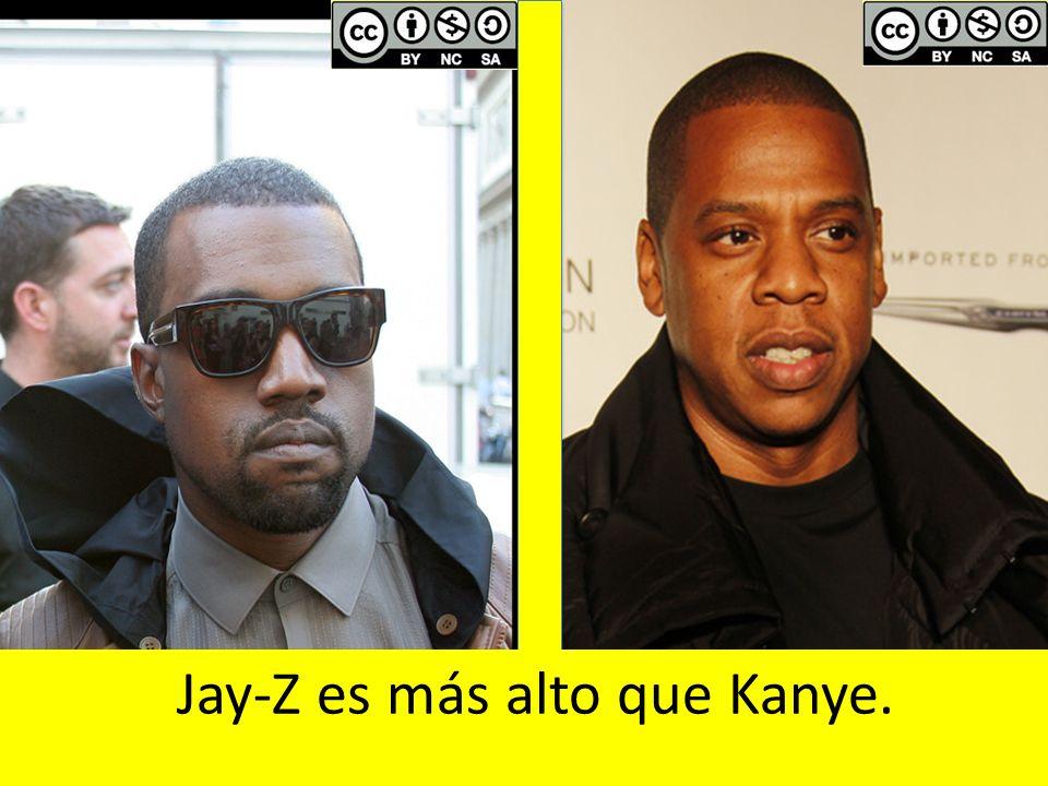 Jay-Z es más alto que Kanye.