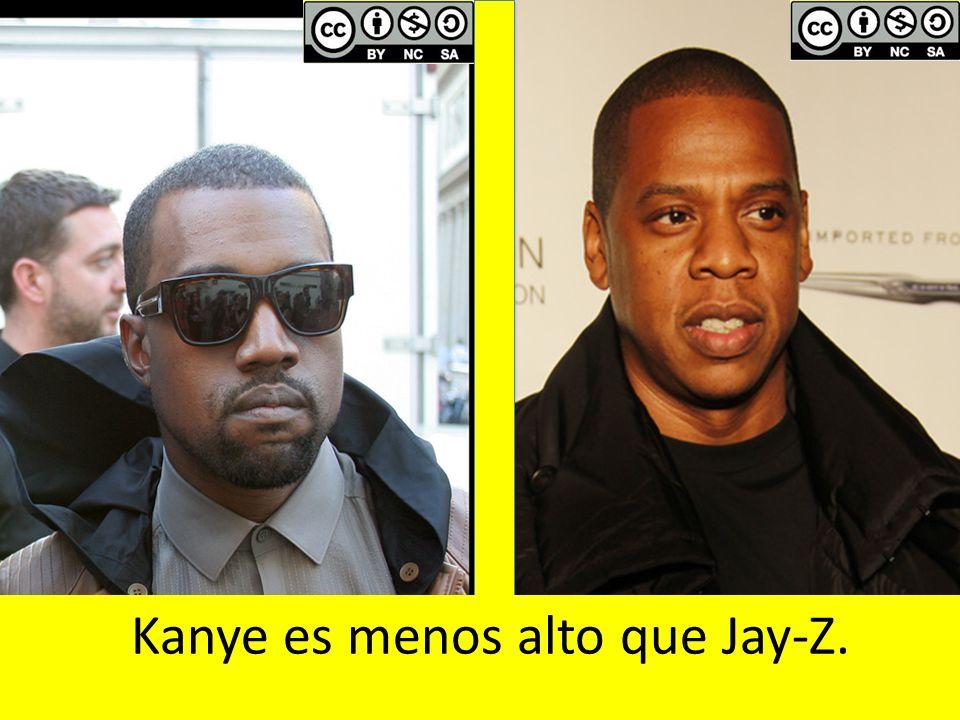 Kanye es menos alto que Jay-Z.