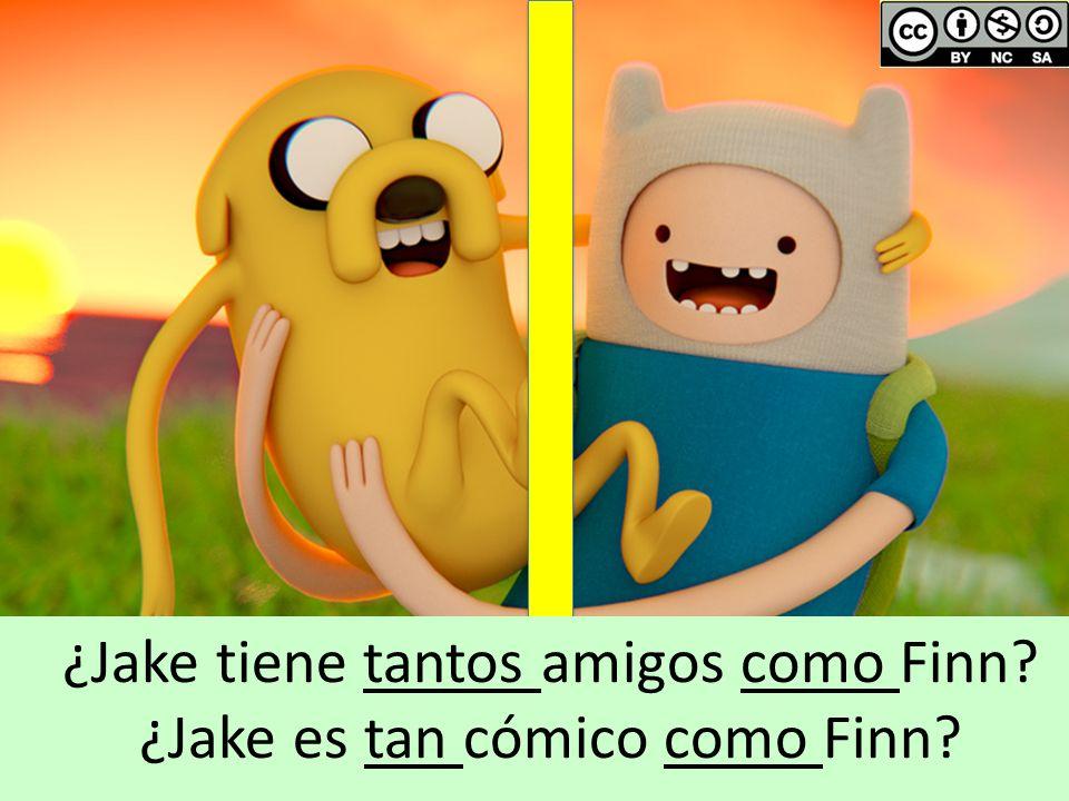 ¿Jake tiene tantos amigos como Finn ¿Jake es tan cómico como Finn