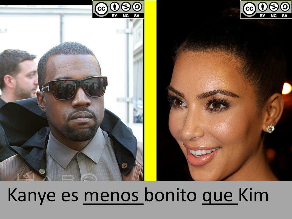 Kanye es menos bonito que Kim