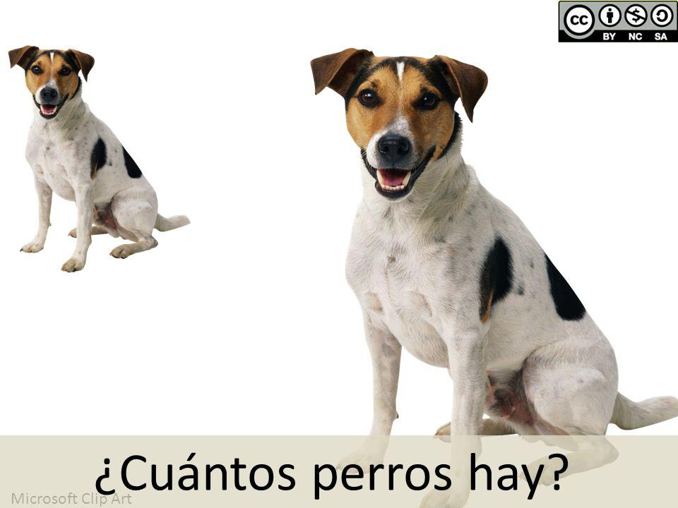 ¿Cuántos perros hay Microsoft Clip Art