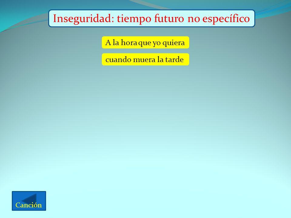 Inseguridad: tiempo futuro no específico