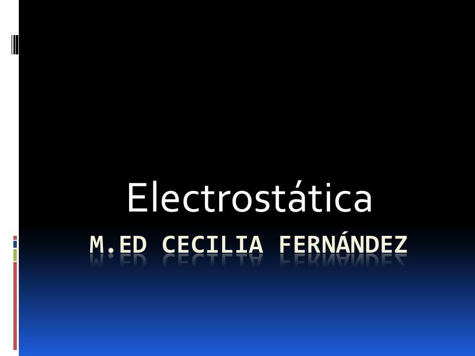 Electrostática M.Ed Cecilia Fernández