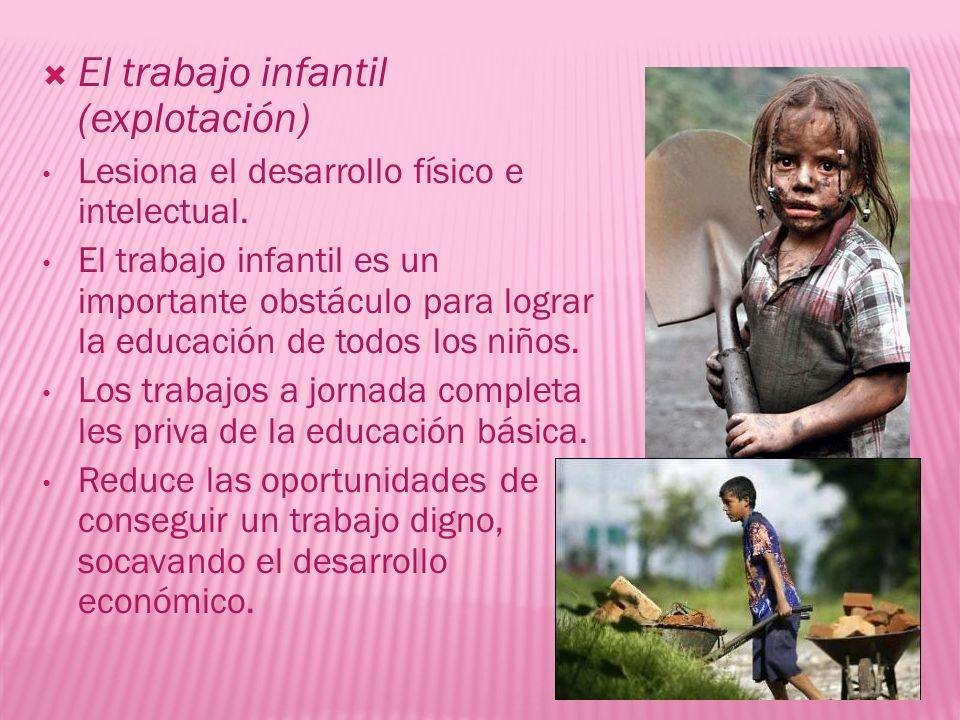 El trabajo infantil (explotación)