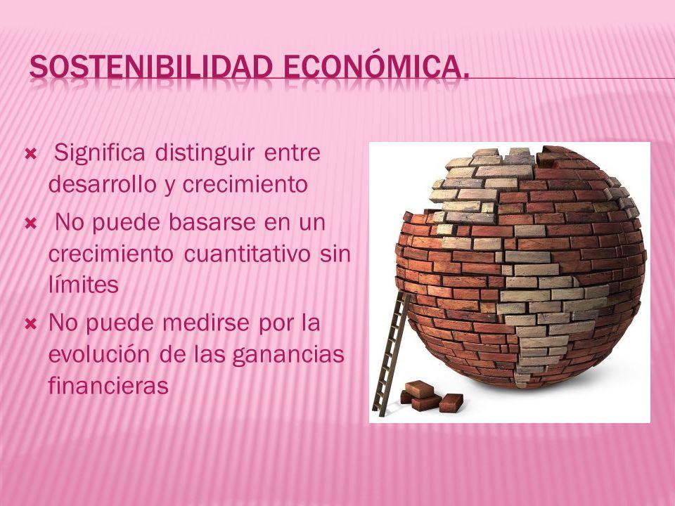 Sostenibilidad económica.