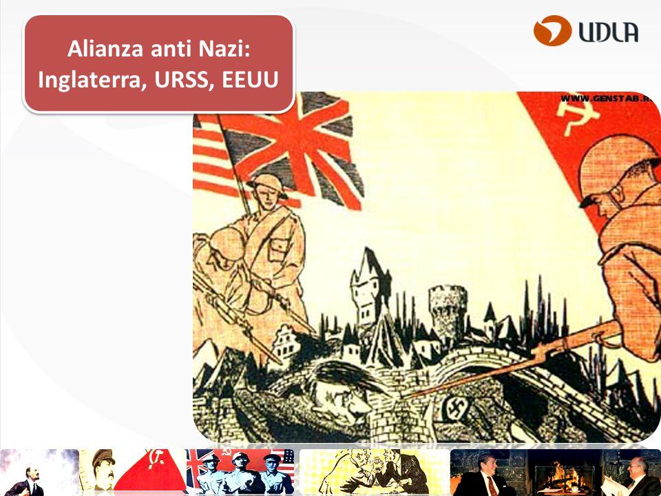 Alianza anti Nazi: Inglaterra, URSS, EEUU
