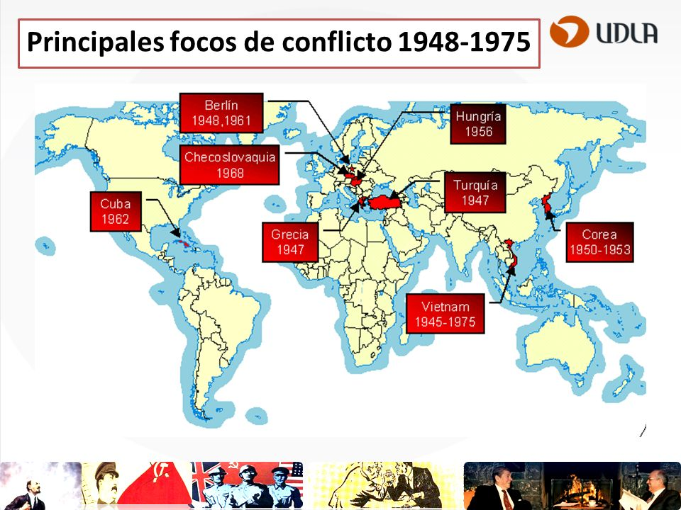 Principales focos de conflicto 1948-1975