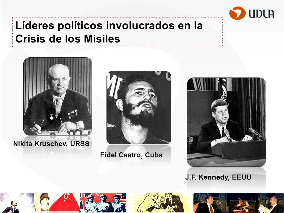 Líderes políticos involucrados en la Crisis de los Misiles