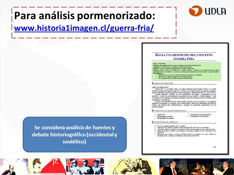 Para análisis pormenorizado: www.historia1imagen.cl/guerra-fria/