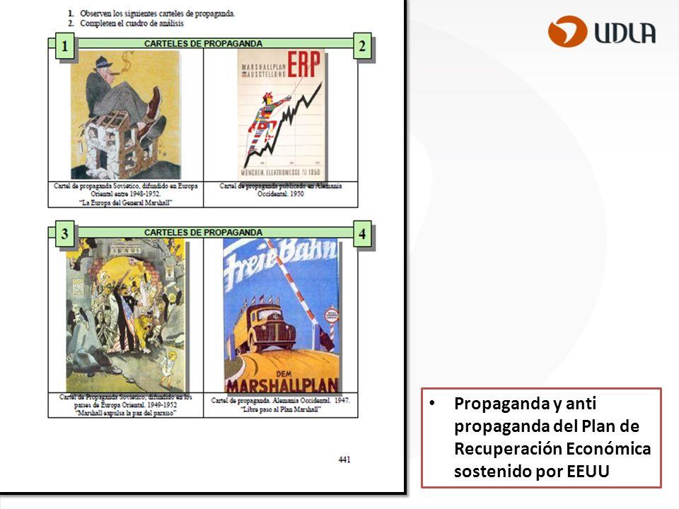 Propaganda y anti propaganda del Plan de Recuperación Económica sostenido por EEUU