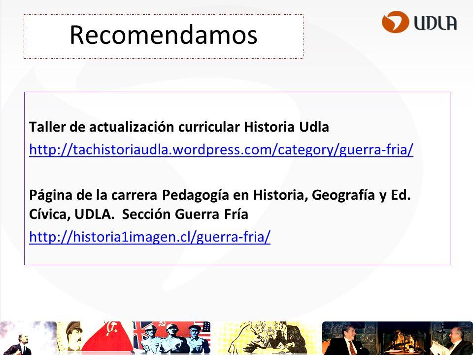 Recomendamos Taller de actualización curricular Historia Udla