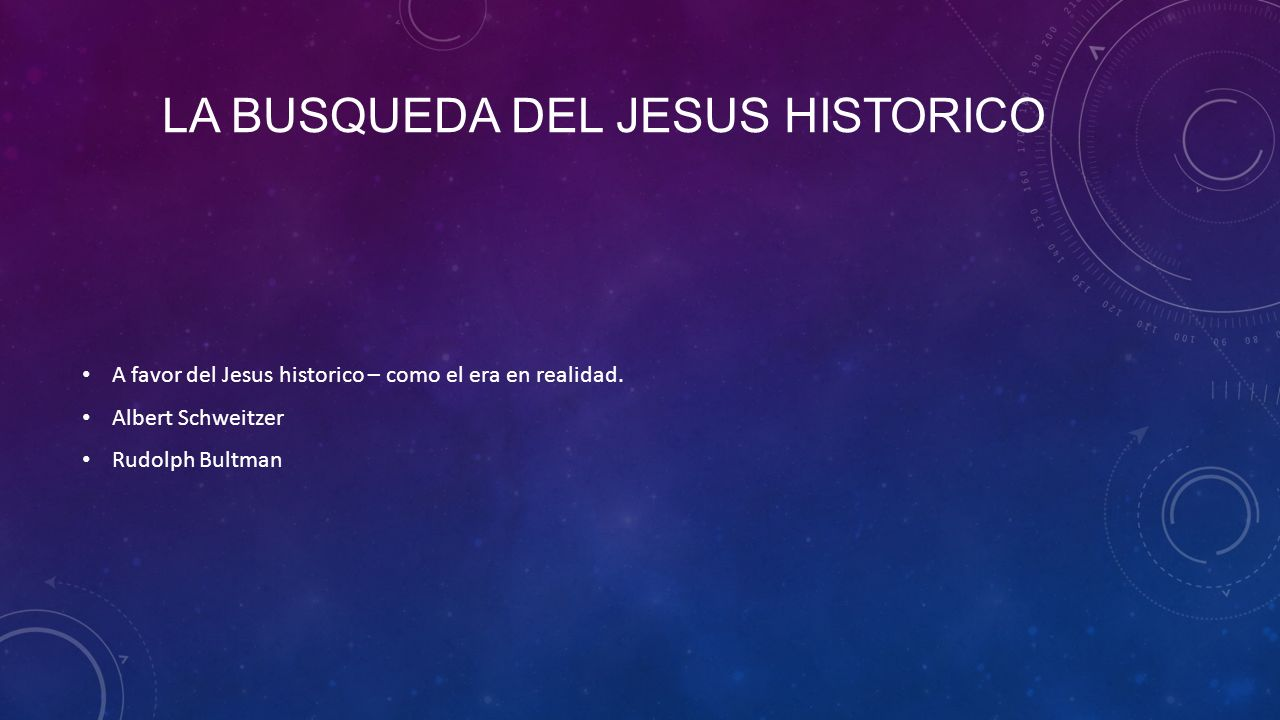 La busqueda del jesus historico