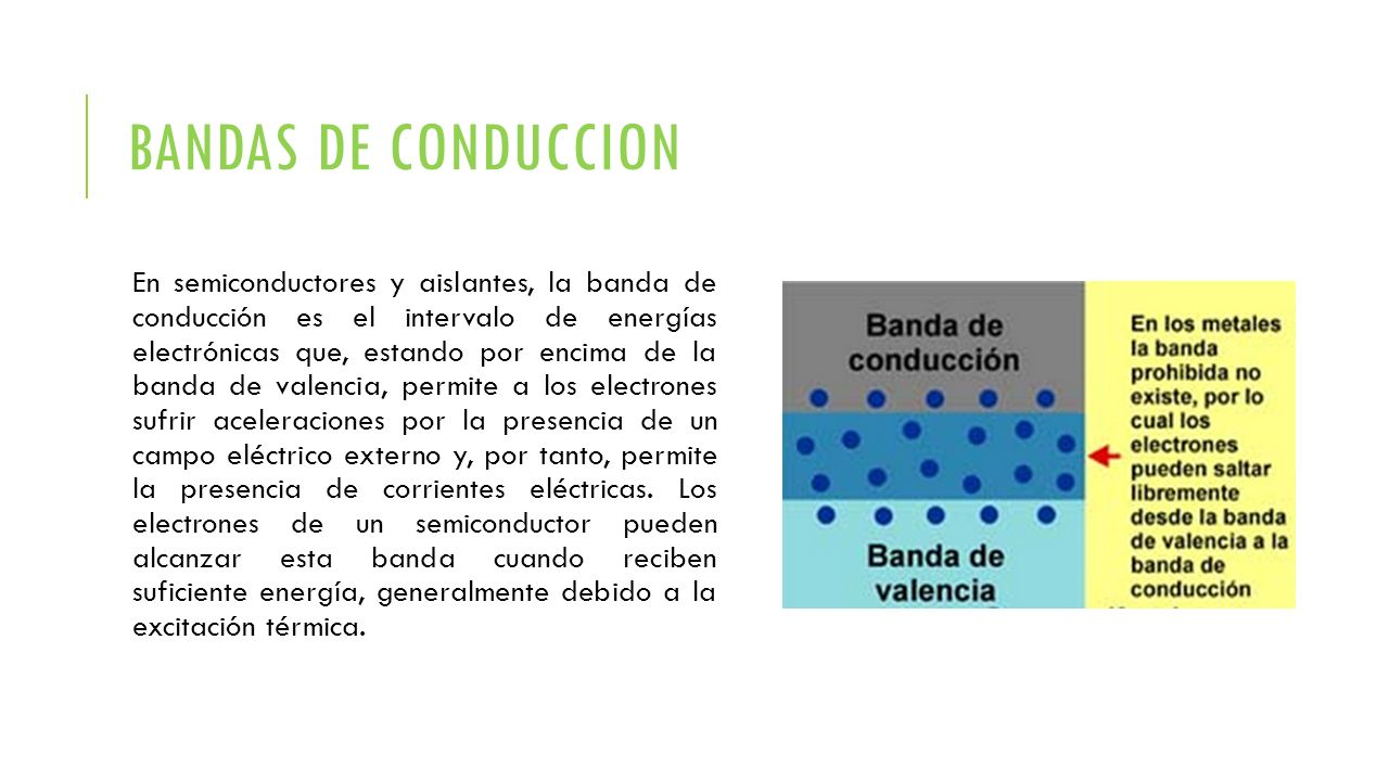 BANDAS DE CONDUCCION