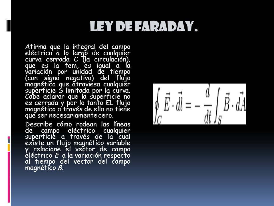 Ley de faraday.