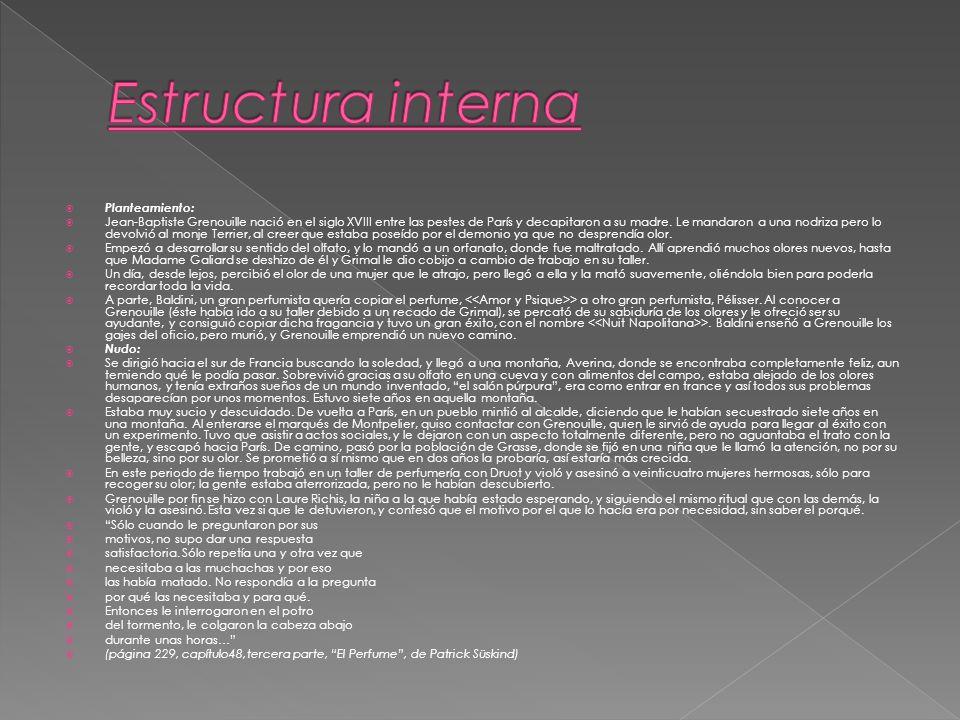 Estructura interna Planteamiento: