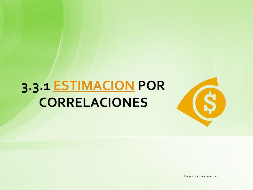 3.3.1 ESTIMACION POR CORRELACIONES