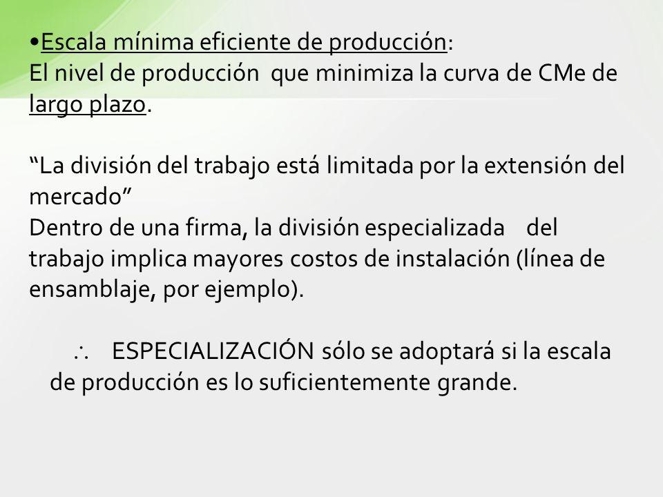 Escala mínima eficiente de producción:
