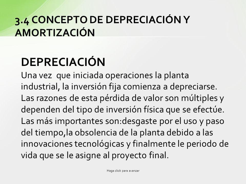 3.4 CONCEPTO DE DEPRECIACIÓN Y AMORTIZACIÓN