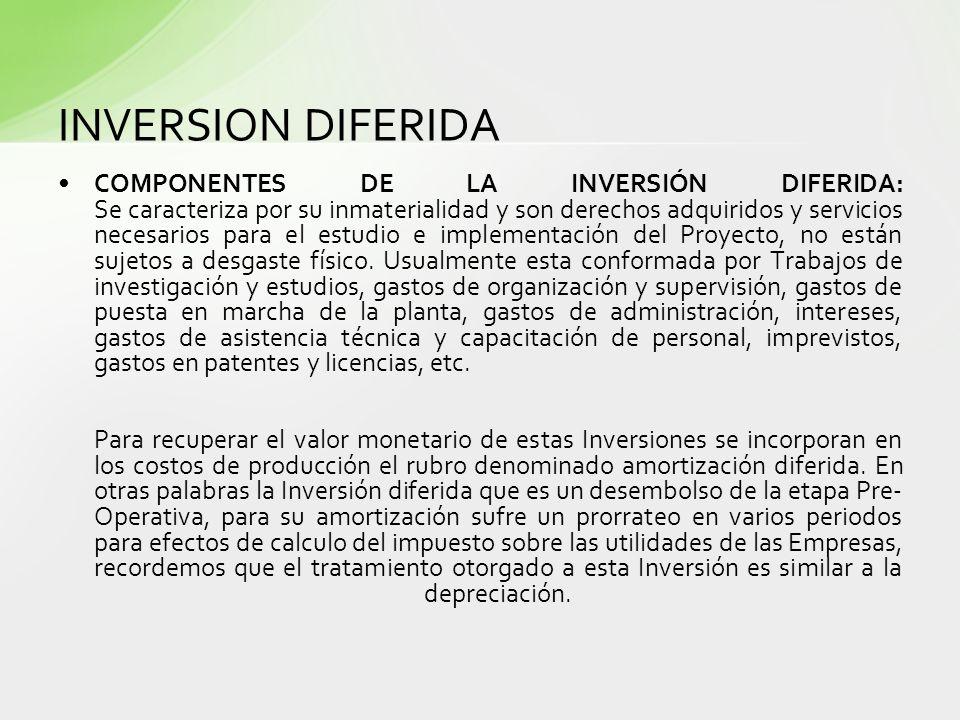 INVERSION DIFERIDA