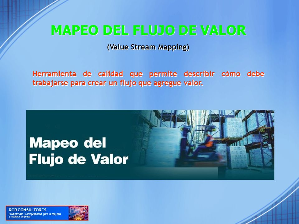 MAPEO DEL FLUJO DE VALOR (Value Stream Mapping)