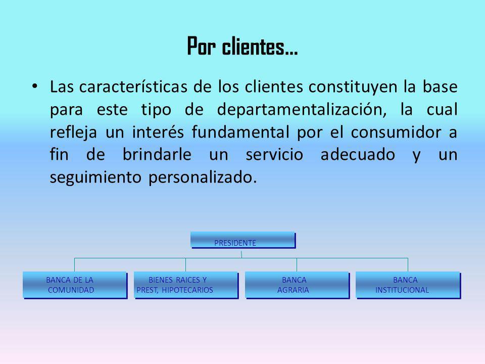 Por clientes…
