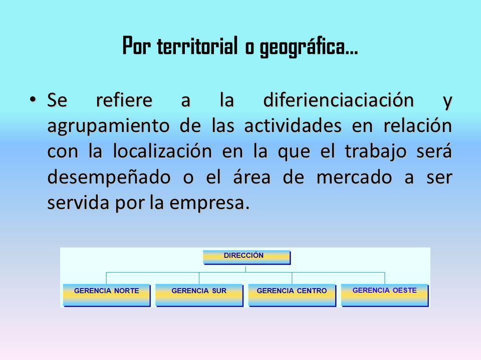 Por territorial o geográfica…