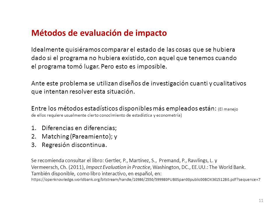 Métodos de evaluación de impacto