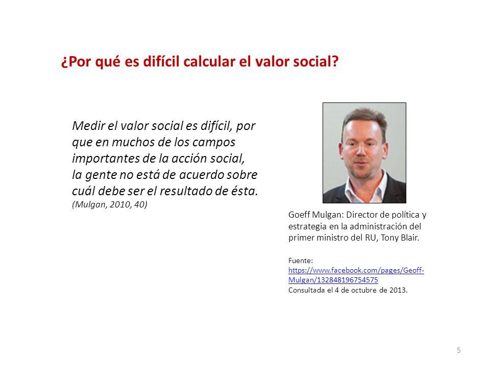 ¿Por qué es difícil calcular el valor social