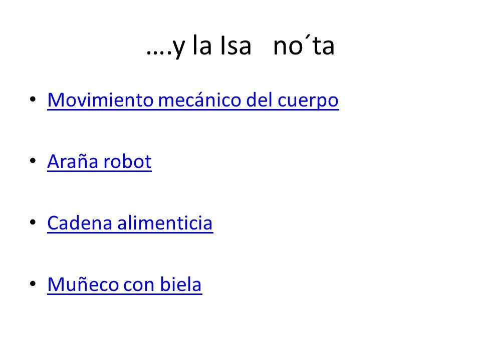 ….y la Isa no´ta Movimiento mecánico del cuerpo Araña robot