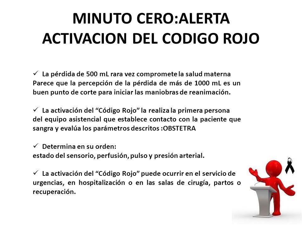 MINUTO CERO:ALERTA ACTIVACION DEL CODIGO ROJO