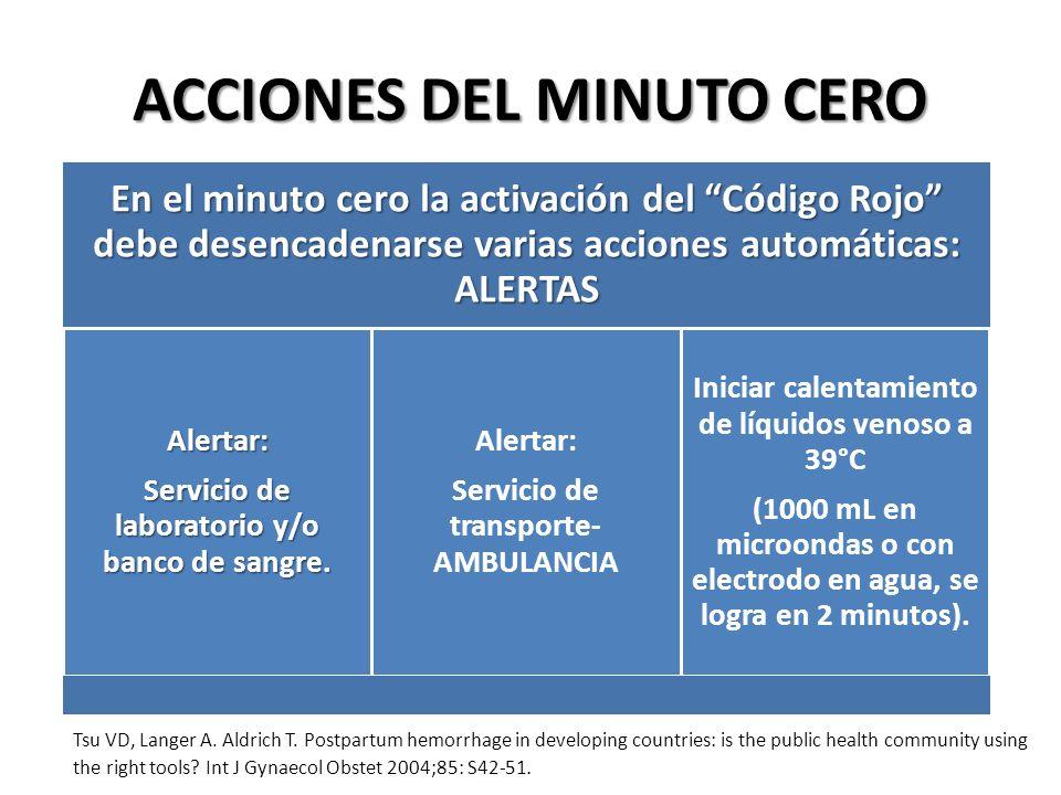 ACCIONES DEL MINUTO CERO