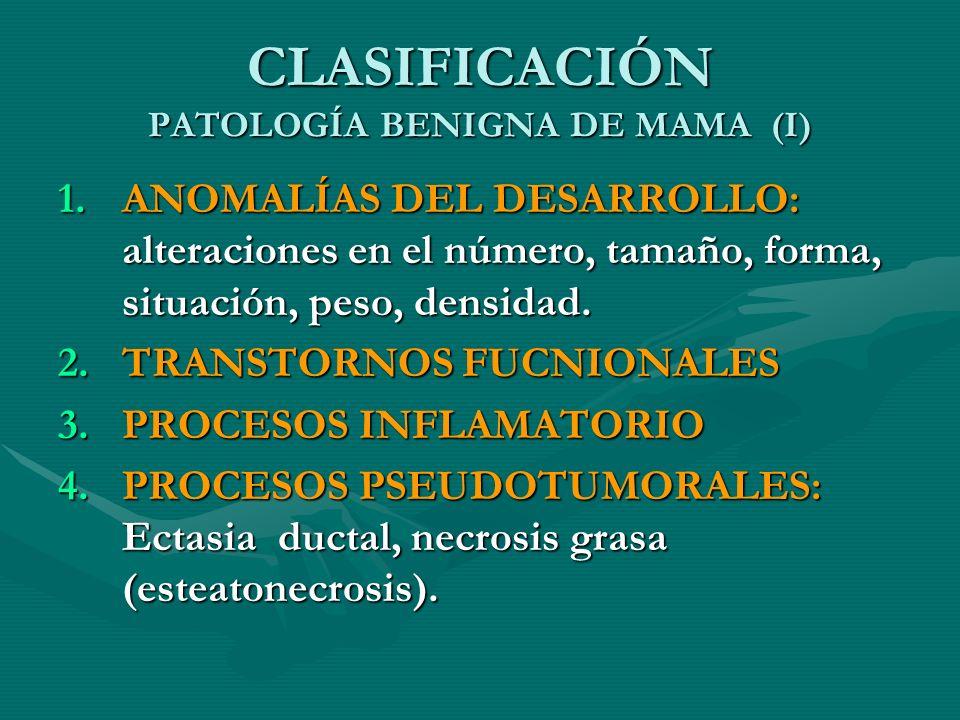 CLASIFICACIÓN PATOLOGÍA BENIGNA DE MAMA (I)