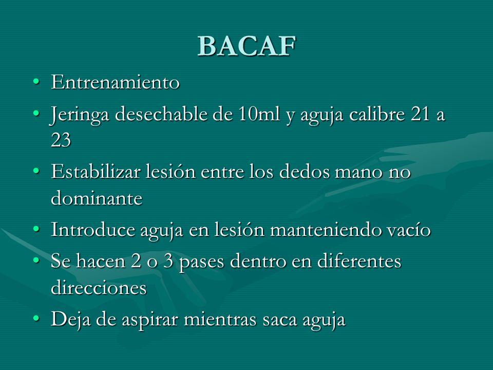 BACAF Entrenamiento Jeringa desechable de 10ml y aguja calibre 21 a 23