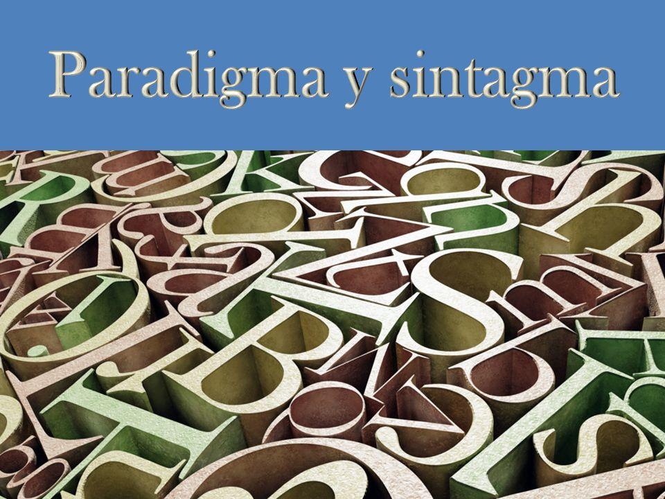 Paradigma y sintagma