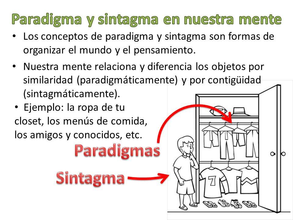 Paradigma y sintagma en nuestra mente