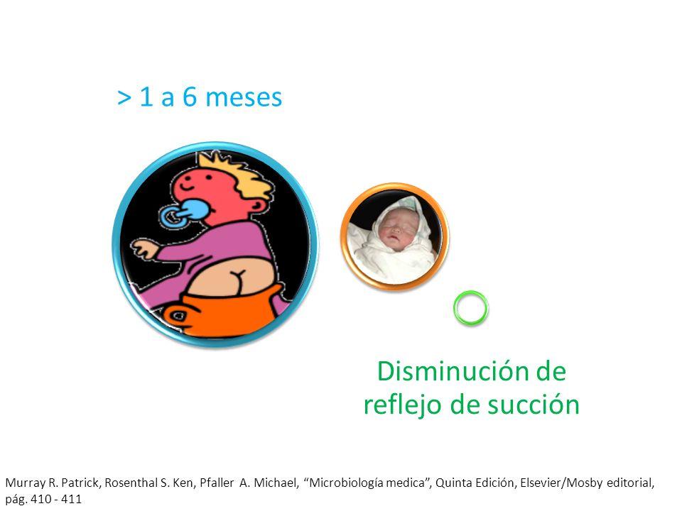 Disminución de reflejo de succión