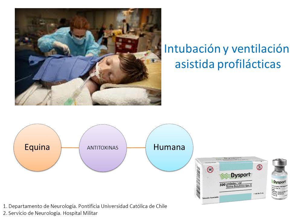 Intubación y ventilación asistida profilácticas