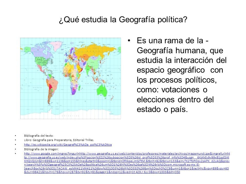 ¿Qué estudia la Geografía política