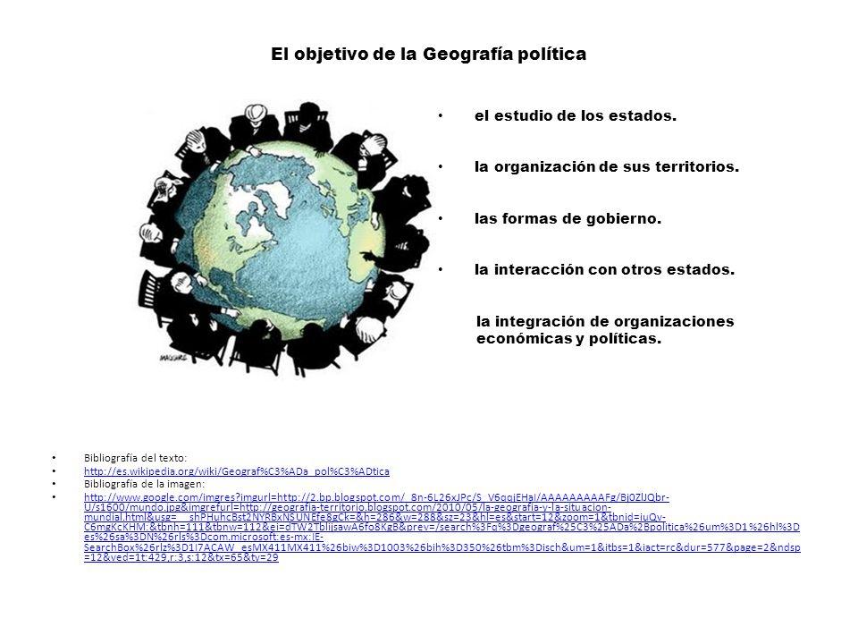El objetivo de la Geografía política