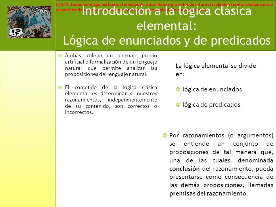 Introducción a la lógica clásica elemental: Lógica de enunciados y de predicados