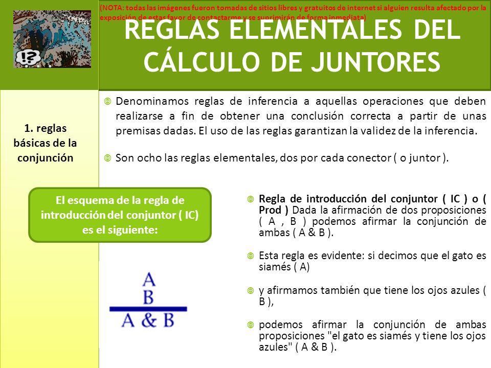 REGLAS ELEMENTALES DEL CÁLCULO DE JUNTORES