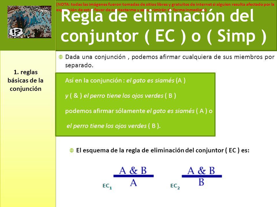 1. reglas básicas de la conjunción