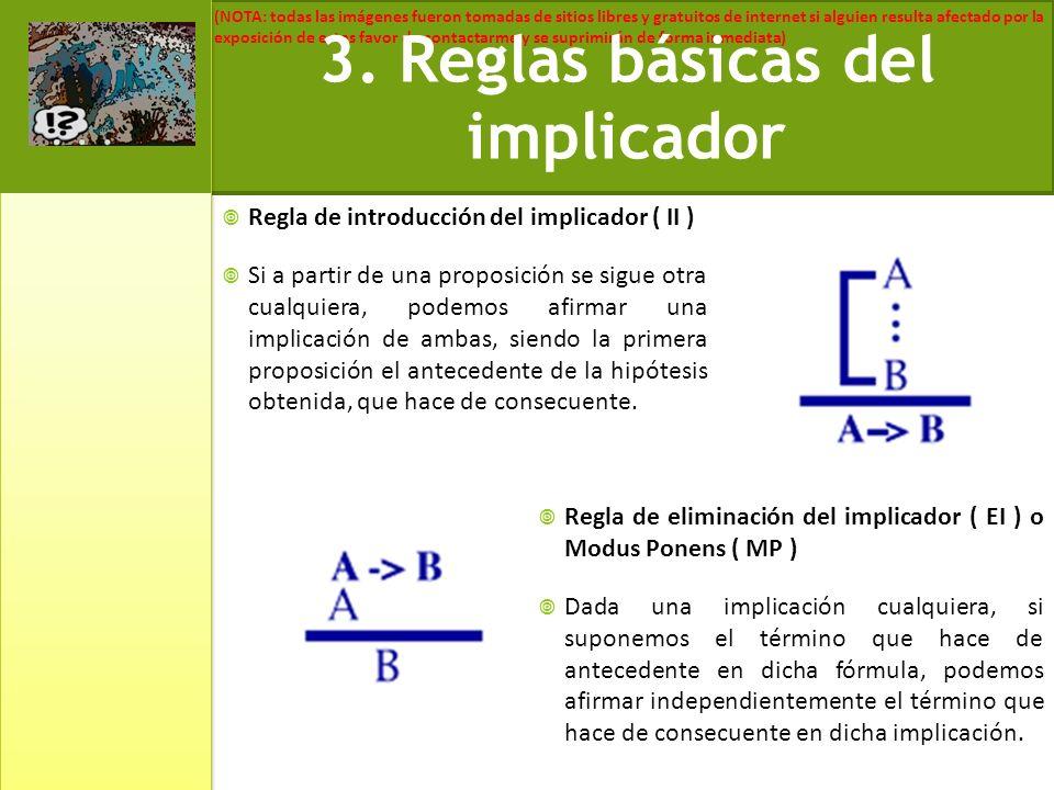 3. Reglas básicas del implicador